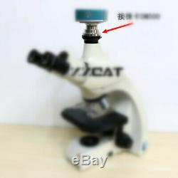0.35X 0.55X 1X Stainless Steel C-mount Camera Adapter for Leica Microscopes 1PCS