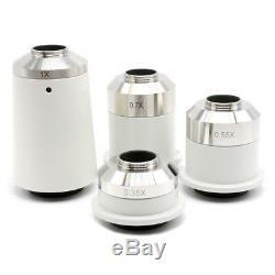 0.35X 0.55X 1.2X Microscope Camera C-Mount Lens Ring Adapter f Nikon Microscope