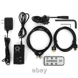 14MP Digital Stereo Microscope Camera +Boom Stand 0.5X C-mount Adapter 144 LED