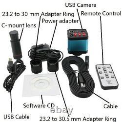 14MP USB Industry Microscope Digital Eyepiece CMOS Camera Video 0.5X C-mount Len