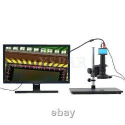 14MP USB Microscope Camera Kit 1080P+180X C-Mount Lens 60 LED Ring Light xr-top