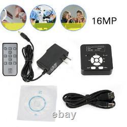 16MP 1080P 60FPS HDMI Microscope Digital Camera Video Recorder C-mount Adapter