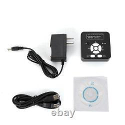 16MP HDMI Microscope Digital Camera TF Video Recorder C Mount Adapter