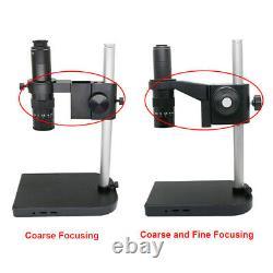 180X Zoom Digital Microscope C-mount Eyepiece Lens w Stand Industrial Microscope
