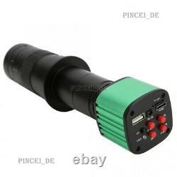 24MP 1080P 2K Microscope Video Camera USB 10X-180X C-Mount Lens For Welding