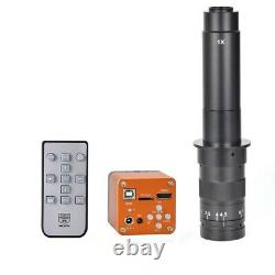 34MP Industrial Microscope Camera HDMI 2K 1080P+ 300X C-Mount Lens For Soldering