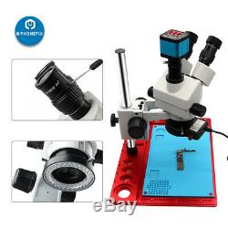 3.5-90X Continuous Zoom Simul Focal Trinocular Stereo Microscope HDMI adapter
