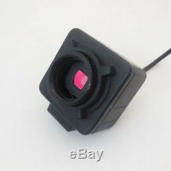 5.0MP Video Microscope USB Camera Eyepiece 180X Optical Zoom Lens w 0.5X Adapter