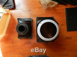 Adapter for camera microscope photographic Plate 6.5x9cm 912m black bakelite