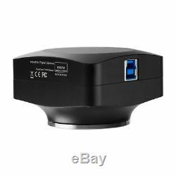 AmScope 20MP Microscope Camera USB3.0 BSI C-mount + Speed-boost Calibrate Slide