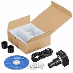 AmScope 3MP USB2.0 High-speed Microscope Digital Camera + Calibration Kit