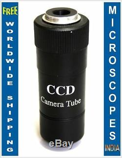 C-Mount CCD & CMOS Video Camera Microscope Adapter with Par Focal Adjustment