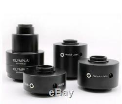 Camera Adapter for Olympus Trinocular Stereo Microscope 1X 0.5X 0.35X 0.63X
