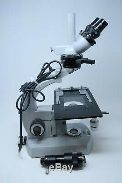 Carl Zeiss 47-09-20 Trinocular Inspection Microscope + HR055-CMT Camera Adapter