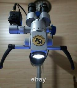 FIVE Step ENT Dental Surgical Microscope Motorized focousing camera free ship8