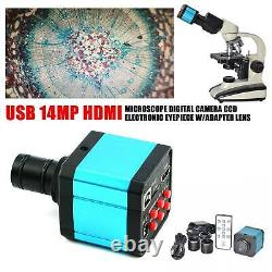 HDMI Microscope Digital Camera CCD Electronic Eyepiece WithAdapter lens USB 14MP