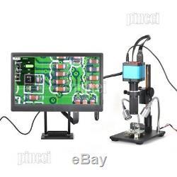 HY-2307su 14MP Industrial Microscope Camera 120X C-mount CCD Lens 1080P HDMI/USB