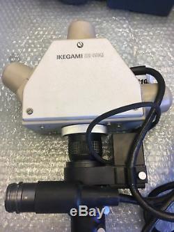 Ikegami ITC-350M MSL-P MSA-O & MSH-C Microscope Lens, Camera Head, Adapter