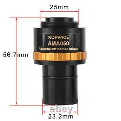 KOPPACE Adjustable Focus Industrial Camera Adapter 0.5X Microscope Eyepiece