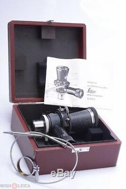 LEICA MIKAS-M MICROSCOPE CAMERA ADAPTER With 10X PERIPLAN OCULAR, CABLE RELEASE
