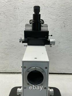 LEITZ WETZLAR ORTHOPLAN MICROSCOPE With COLOR CCD CAMERA & ADAPTER TUBE AS-IS
