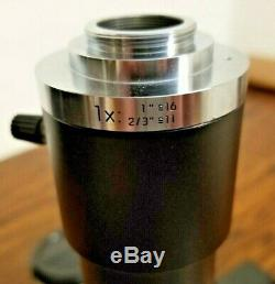 Leica MZ6 Microscope with 16X Eyepieces, Camera Adapter, Ring Light, Mount