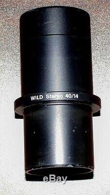 Leica Wild Microscope Video Camera Phototube 404891 Ø38mm & 40/14 Adapter