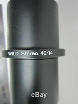 Microscope Camera Port Adaptor Wild Heerbrugg Leica Stereo 40/14 Bin#f3-02