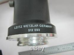 Microscope Part Leitz Wetzlar 512593 Camera Adapter Optics Bin#k8-03