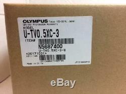 NEW Olympus U-TV0.5XC-3 Camera adapter, Olympus U-TLU lens for BX/IX microscope