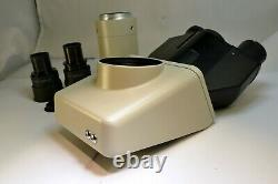 Nikon Labophot-2 Microscope part head with camera T2 mount adapter trinocular