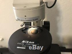 Nikon TMS Inverted Phase Contrast Microscope Ph 4X 10X 20X New Cosmetic Camera
