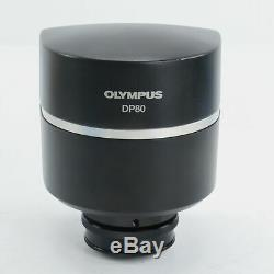 OLYMPUS DP80 DIGITAL MICROSCOPE CAMERA With 0.63X ADAPTER & DELL PC WITH SOFTWARE