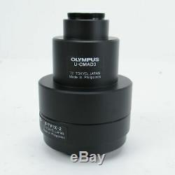 OLYMPUS U-CMAD3 C-MOUNT MICROSCOPE CAMERA ADAPTER With U-TV1X-2