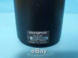 OLYMPUS U-TLU, U-TV0.5XC-3 Microscope C-Mount Camera Adapter Tube Lens