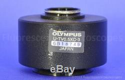 Olympus 0.5x C-mount Stripped Threads Camera Adapter U-TV0.5XC BX Microscope