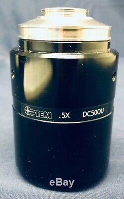 Olympus Microscope U-TRU. 5x Coupler Optem DC50OU for 1/2 C-Mount Camera