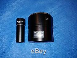 Olympus U-PMTVC Microscope Camera Lens Adapter & NFK 2.5x LD 125 Relay Lens