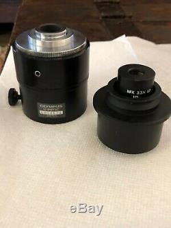 Olympus U-PMTVC Microscope Camera Lens Adapter & NFK 3.3X LD 125 Relay Lens