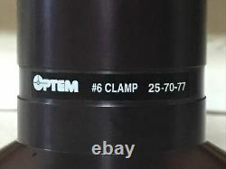 Optem Microscope HR50 257158 Focusing Camera #6 Clamp Adapter 25-70-77 Zeiss