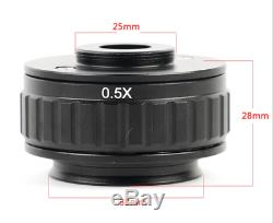 Original 0.35X Focus adjustable microscope C mount camera adapter for amscope