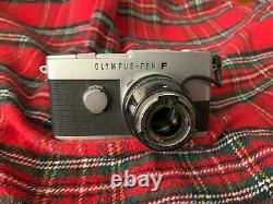Rare Olympus Pen F half-frame medical camera with microscope adapter