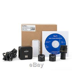 SWIFTCAM Microscope 10MP Digital Camera USB3.0 Live Video Photo +Calibration Kit