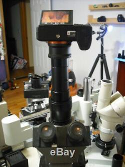 Sony A7 & 9 FULL FRAME Camera Adapter 2 Olympus Microscope Vari-focal BH BX CX