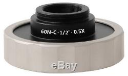 Standard microscope camera C mount adapter for Zeiss Axio series microscope use