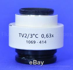 Zeiss Microscope 0.63x C-mount Camera Adapter TV2/3C 0.63x, 1069-414 for Axio